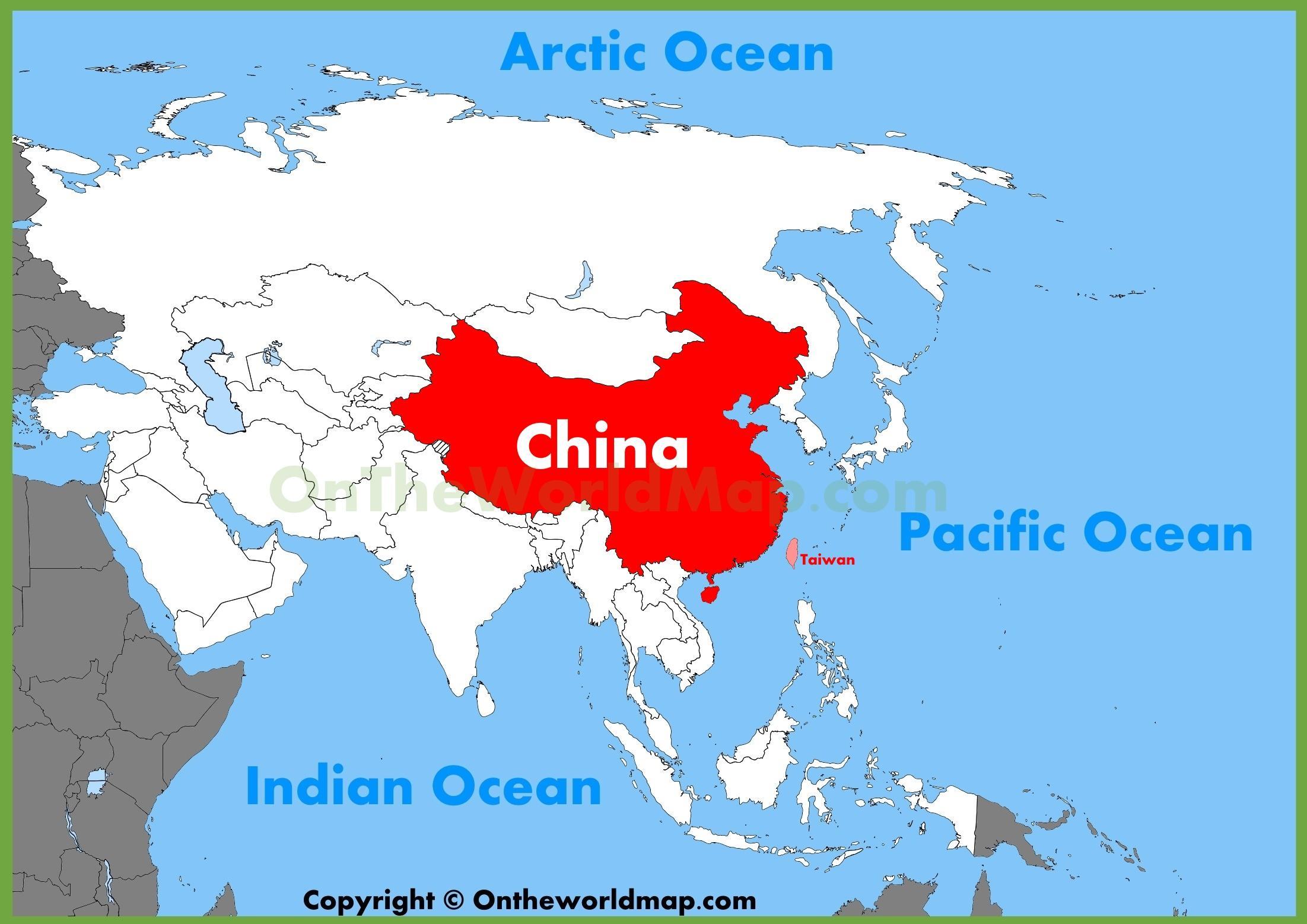 Aasiassa Kiina Kartta Kiina Aasian Kartta Ita Aasia Aasia