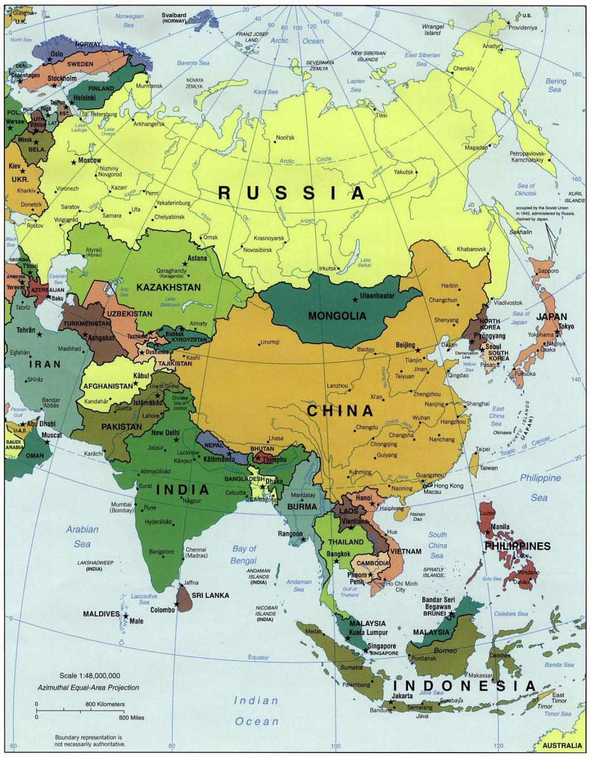 Kartta Kiinan Ja Ymparoivat Maat Kiina Ja Ymparoivien Maiden