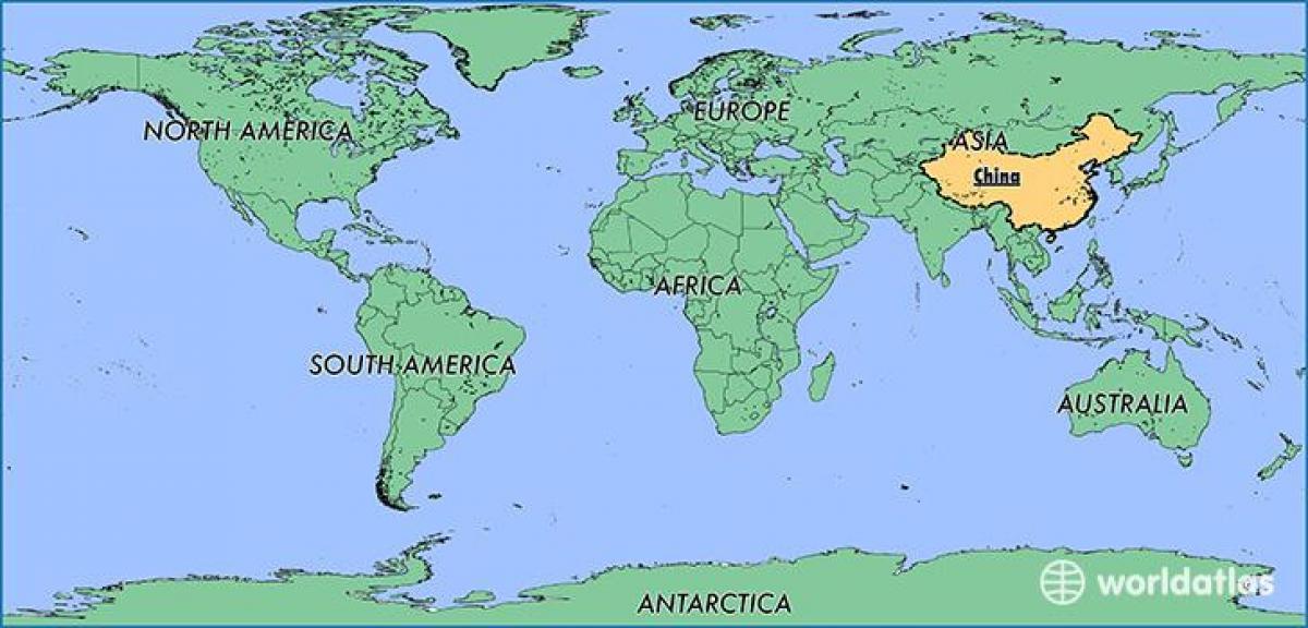 Kiina Sijainti Maailmankartalla Kiina Kartta Maailman Ita Aasia