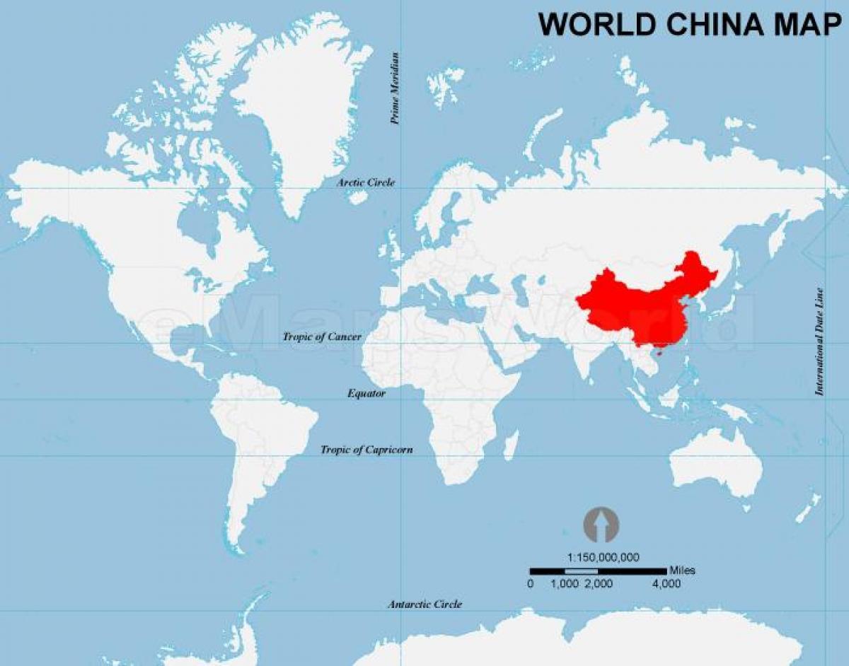 Kiinan Kartta Maailman Kiinan Maailman Kartta Ita Aasia Aasia