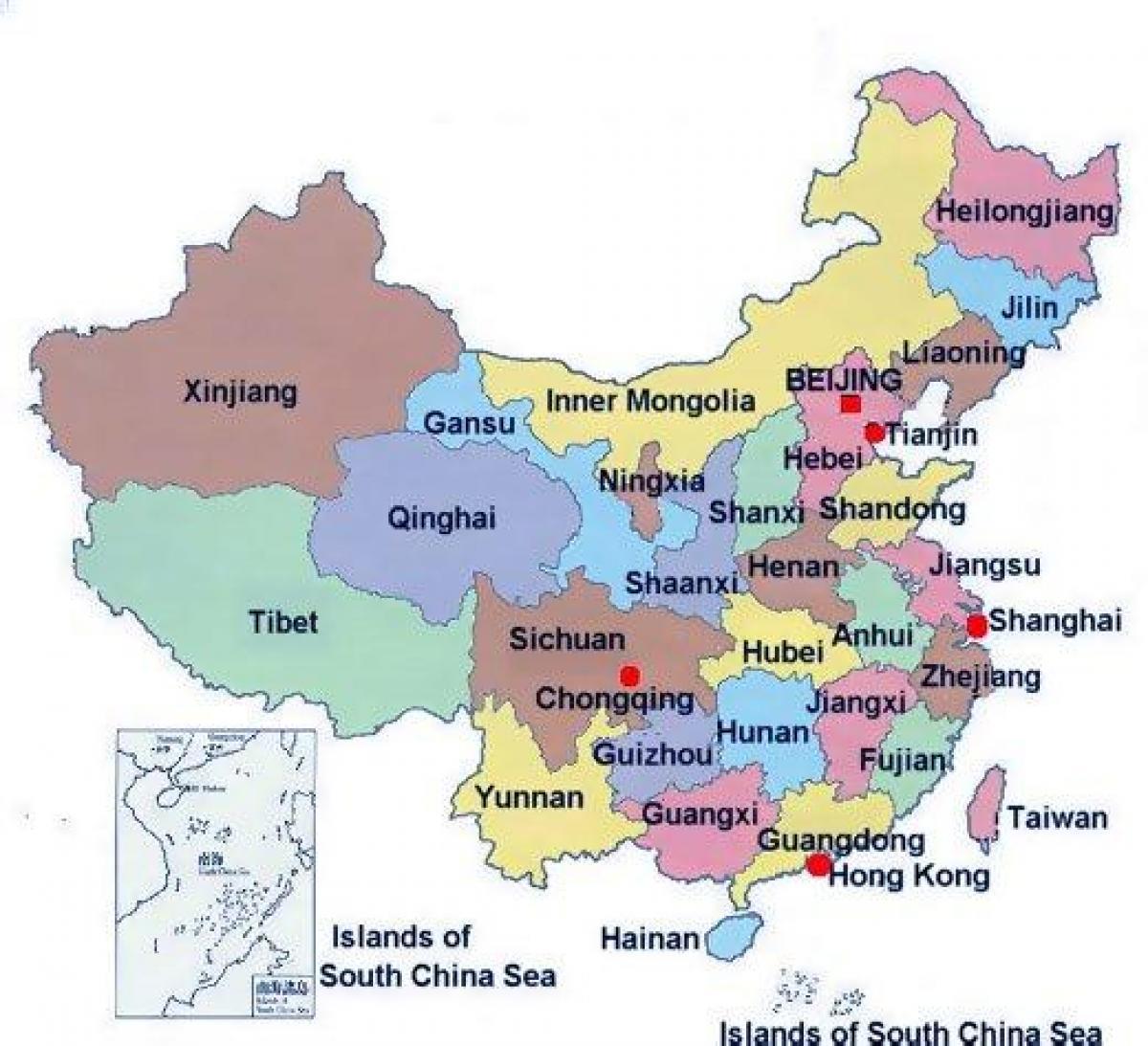Maakunnan Kartta Kiinan Maakunta Kartta Kiina Ita Aasia Aasia